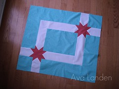 Aqua and Red Baby Quilt (KMQuilts) Tags: red aqua babyquilt