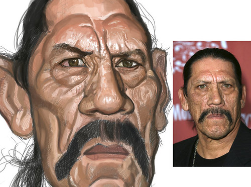 digital sketch of Danny Trejo - 5 small