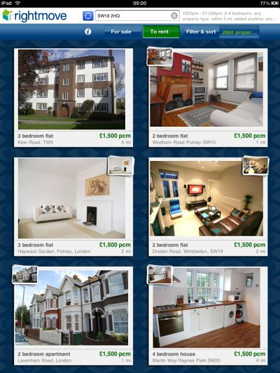 Rightmove iPad app