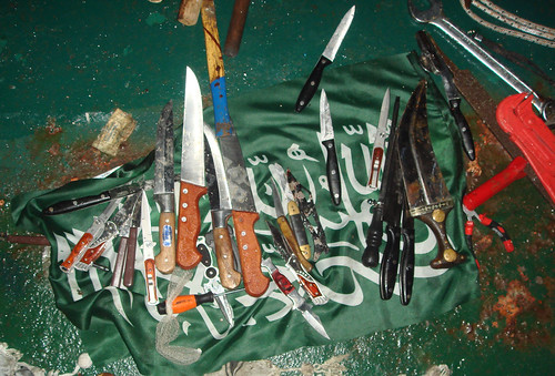 Pictures of weapons found aboard the Mavi Marmara