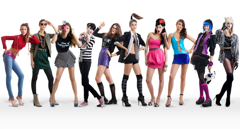 [フリー画像] 人物, 女性, 集団・グループ・群衆, ファッション,