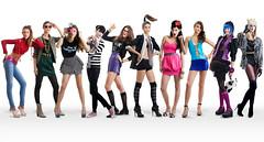 [フリー画像] 人物, 女性, 集団・グループ・群衆, ファッション, 201006120900