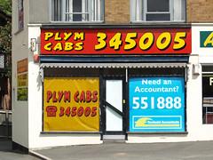 Cabs (chrisinplymouth) Tags: door doorway shop shopfront cw69x taxi cab plymouth plympton devon unitedkingdom england uk city plymgrp sss
