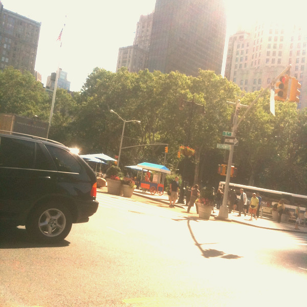 dodging traffic on 23rd & 5th #walkingtoworktoday