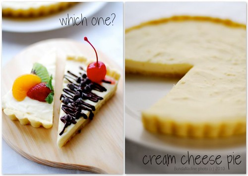 Cream Cheese Pie - collage