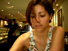 iced coffee (omoo) Tags: newyorkcity italy girl beautiful friend flickr westvillage bakery cris greenwichvillage roccos ble