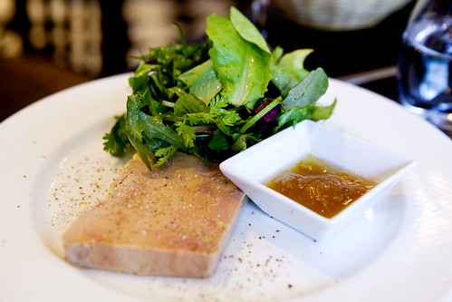 House made foie gras terrine with green salad and yuzu confiture