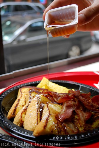 New York - Cafe Metro french toast and bacon