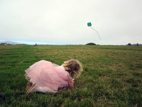 Princess with a Kite