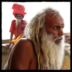 On the Edges of Time (designldg) Tags: portrait people india man sunrise dawn colours expression atmosphere panasonic soul elder varanasi shanti kashi ganga ganges ghats benares benaras uttarpradesh  indiasong dmcfz18 sdhu sadhu