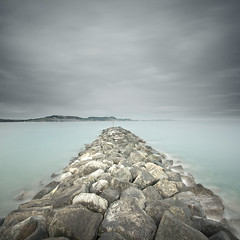 On The Rocks (Scott Howse) Tags: longexposure sea england sky heritage rocks unesco lee dorset coastline filters defences lymeregis graduated breakwater jurassiccoast nd110 09h