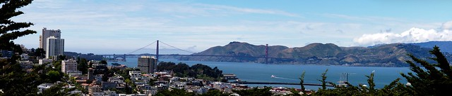 Golden Gate Bridge From Telegraph Hill Panorama