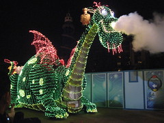 Pete's Dragon in Disney's Electrical Parade. (04/17/2010)