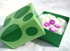 Green Polka Dot Paper Gift Boxes