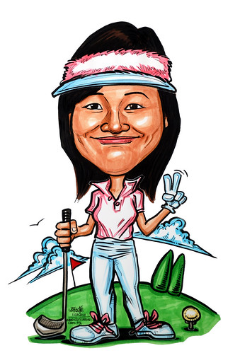 Caricatures for NUS - golfer