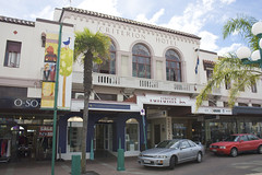 Taken on an Art Deco tour of Napier, New Zealand, March 2010. </p> <p>Napier was largely destroyed by an earthquake in 1931 and subsequently rebuilt in the Art Deco style. Now preserved and maintained it has one of the largest concentrations of Art Deco architecture in the world and has been nominated for World Heritage Site status. <a href=