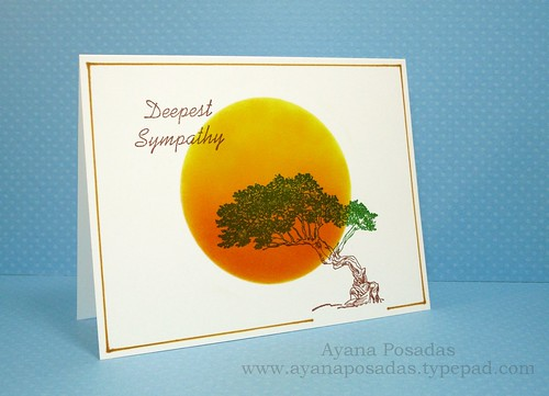 Sympathy One-Layer Card (2)