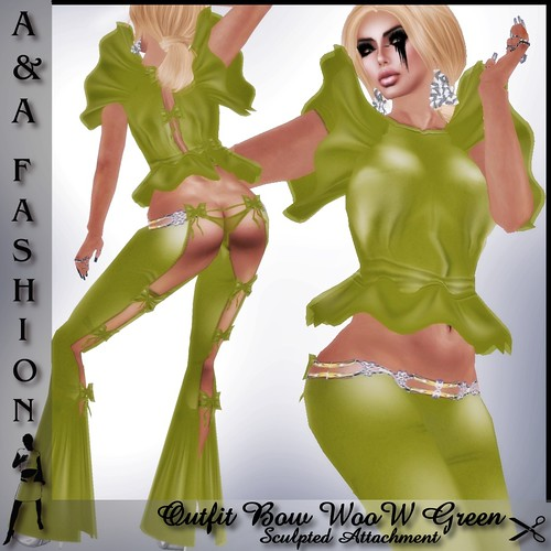 A&A Fashion Outfit Bow WooW Green