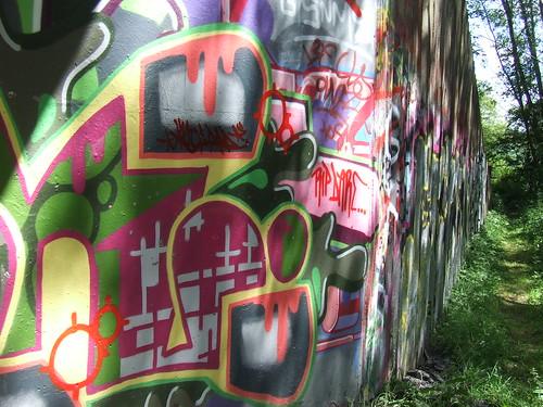Graffiti under the bridge