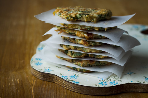 Kohlrabi Fritters with Herbs