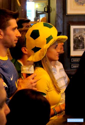 Brazil football fans, London