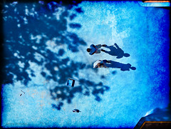 shadow painters (marianna armata) Tags: blue 2 canada men pool swimming painting shadows grunge rollers