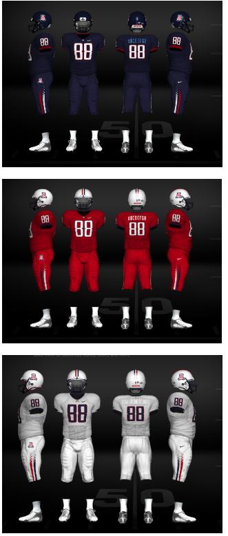 University Of Arizona Wildcats Football Uniforms