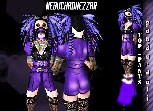 cyber goth hairstyles. NDN - Panderdoll Cybergoth