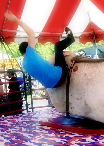 How to fall off the mechanical bull