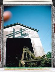 Butler Coal & Oil / Polaroid Colorpack II Camera Test (Michael Raso - Film Photography Podcast) Tags: polaroid butler newjerseyusa fujifilmfp100c butlernj polaroidcolorpackii summer2010