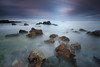 Swine Den, Howick (Alistair Bennett) Tags: longexposure sunset seascape coast rocks waves northumberland howick craster cullernosepoint canonefs1022 swineden gnd09he big10stopper