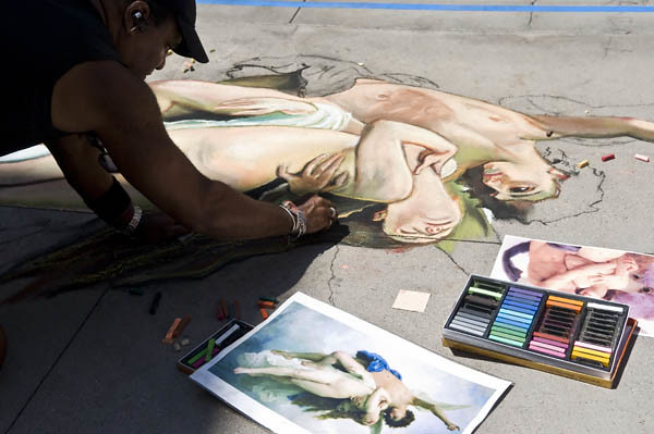 Chalk Festival Cupid and Psyche