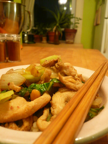 Bok Choy stir fry w/chicken