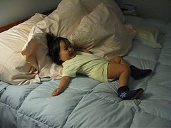 talking and walking (lauratitian) Tags: video bed stretch npr 13months dismount thuyesme