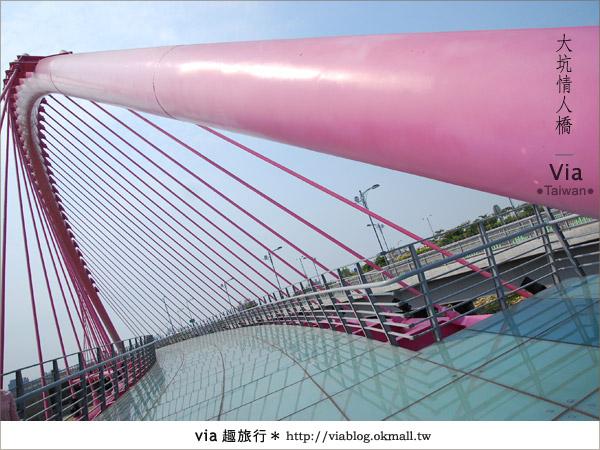 【大坑情人橋】新的台中約會景點~浪漫粉紅色情人橋9