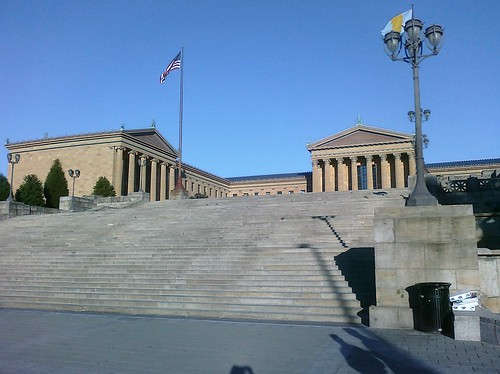 Ptw Just walked up Rocky steps while Neil blared theme from his iPhone