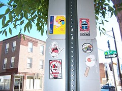 6th Street (Question Josh? - SB/DSK) Tags: streetart philadelphia sticker stickers josh philly sneak uwp ticky catv freaq ceito