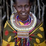 Maasai woman in traditional clothes - Kenya