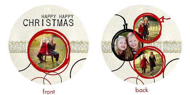happy happy christmas circle