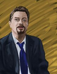 Eddie Izzard Photoshop Portrait (Crilix) Tags: portrait man guy art face photoshop pose paint drawing trace tie dude suit bust jacket torso eddie tablet izzard acad paintover