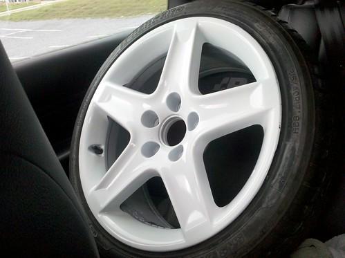 VWVortex.com - WTT: WHITE Acura TL wheels (5 spoke) w ...