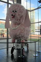 Baltimore - Inner Harbor: Visitors Center - Fifi (wallyg) Tags: pink sculpture maryland baltimore poodle fifi innerharbor americanvisionaryartmuseum visitorscenter eastcoastnationalkineticsculpturerace