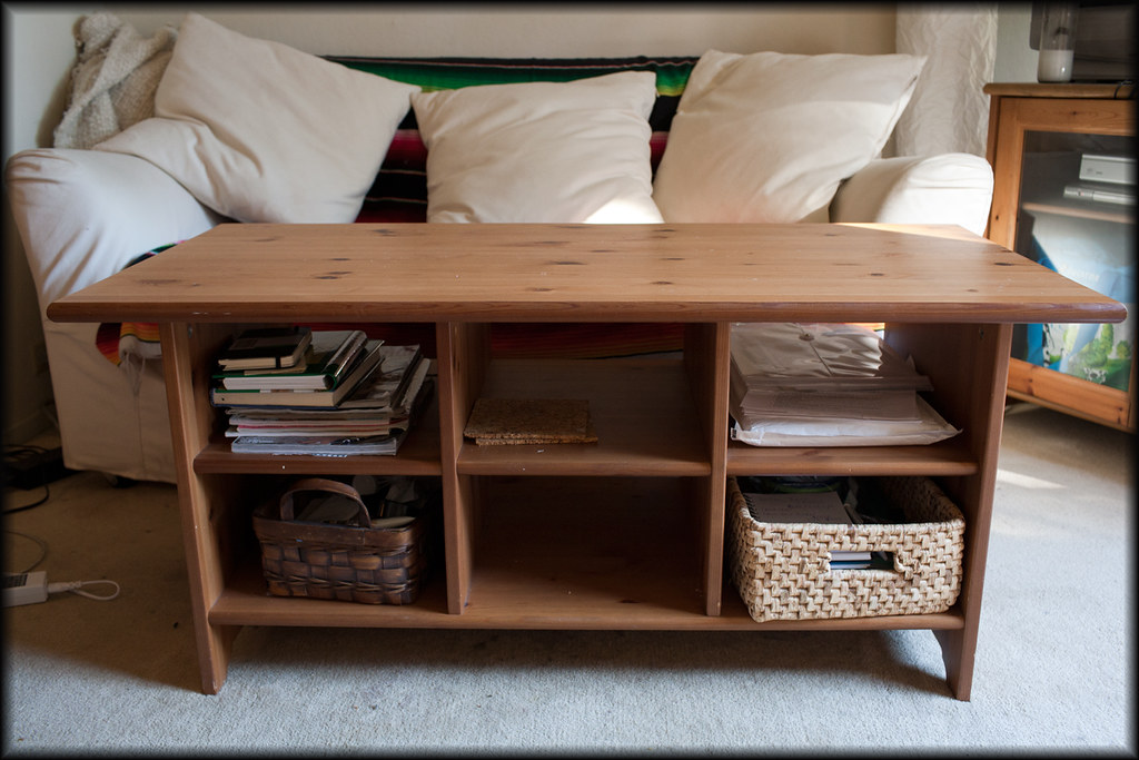 Coffee Table with storage slots