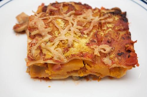 mushroom + roast pumpkin lasagna