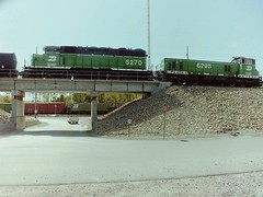 BNSF Humpyard of Argentine (Slider Jake) Tags: bridge bn missouri kansas bnsf hump switchers 6270 6295 humpyard argentineyard