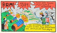 História de Lisboa de Nuno Saraiva - Rua Norberto de Araújo - 1384 (Markus Lüske) Tags: portugal lisbon lissabon lisboa historia história history geschichte graffiti graffito wandmalerei mural muralha kunst art arte nuno saraiva nunosaraiva lueske lüske