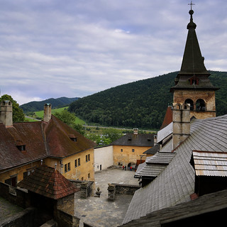 Aerial view of medieval Orava Castle in Slovakia