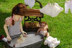 L is for laundry day (Little little mouse) Tags: dollstown ganga megan dt7 bjd dollfie sfbj236parisbebe toymangle