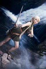 Deedlit the High Elf (Snowgrimm) Tags: deedlit cosplay nature waterfall beauty magic sword fantasy awesome costume pretty elf elv girl shooting