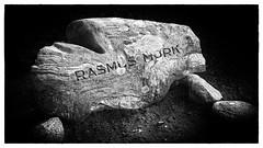 Rasmus Mørkes gravsten på Klejtrup Kirkegård